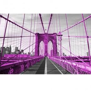 Fototapeta różowy most Brookliński | fototapety mosty