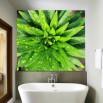 Wizualizacja łazienki z laminowaną fototapetą - model roślina