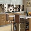 Fototapeta kolaż zdjęć weneckich do kuchni między szafki