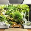 Fototaeta kaskada w lesie na całą ścianę w dużym rozmiarze