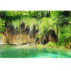 Fototapeta jezioro z wodospadem