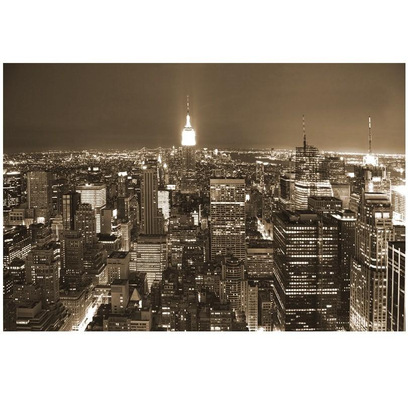 fototapete skyline nacht fototapeta new york. Black Bedroom Furniture Sets. Home Design Ideas