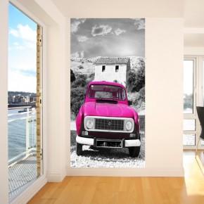 Fototapeta różowy samochód