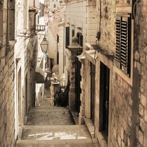Fototapeta kamienna uliczka