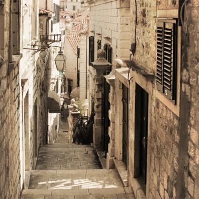 Fototapeta Schodami w dół | fototapety uliczki