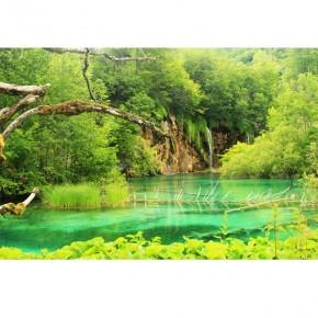 turkusowy wodospad