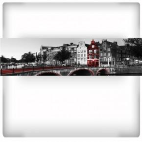 Fototapeta nocny most w Amsterdamie