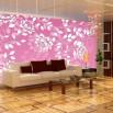 Tapeta różowy ornament