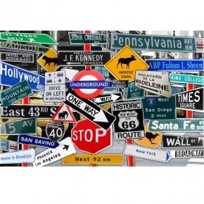 Fototapeta znaki drogowe