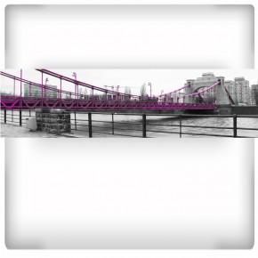 Fototapeta różowy most Grunwaldzki