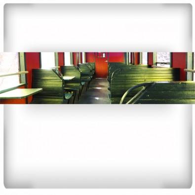 Wagon kolejowy | Fototapeta panoramiczna