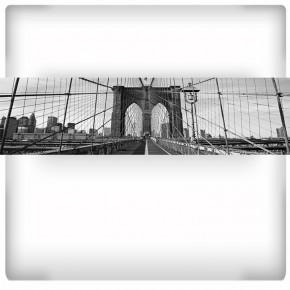 Fototapeta most Brookliński czarno biała