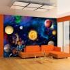 Aranżacja salonu - fototapeta Kosmos