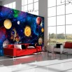 Dekoracja ściany z kosmosem