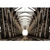 Fototapeta z motywem mostu kolejowego w sepii