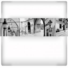 Fototapeta kolaż zdjęć Krakowa | Czarno biała