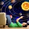 Ozdoba ściany z planetami w kosmosie