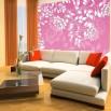Fototapeta różowy ornament w sypialni