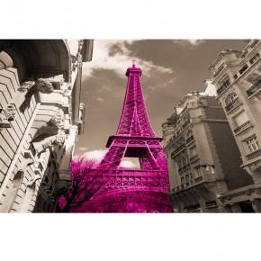 różowa wieża Eiffla