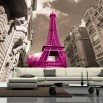 Fototapeta różowa wieża Eiffla - ozdoba ściany w salonie