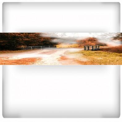 Fototapeta panoramiczna z kolorowym pomostem
