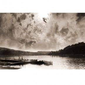 Fototapeta Bieszczady - zachód słońca nad Soliną
