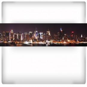 Nowy Jork nocą | Fototapeta panoramiczna