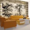 Aranżacja salonu - Fototapeta gałęzie