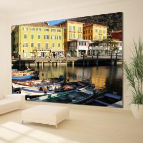 Fototapeta łodzie przystań | fototapety Włochy