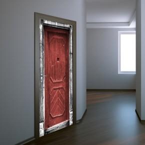 Fototapeta czerwone drzwi