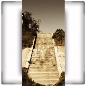 Fototapeta schody sepia