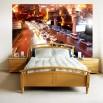 Dekoracj do sypialni z nowoczesnym miastem