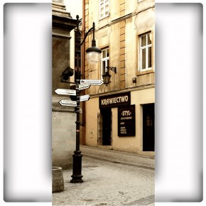 Fototapeta z wąską uliczką