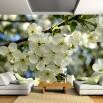 Fototapeta miłosne jabłonie - aranżacja nowoczesnego salonu