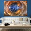 fototapeta oko na ścianie salonu