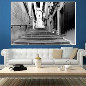 Ftotapeta schodami w górę uliczki
