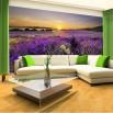 Fototapeta zachód słońca - aranżacja w salonie