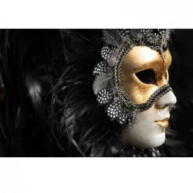Fototapeta złota maska wenecka