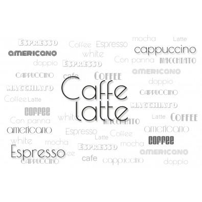 Fototapeta z wyrazem kawa
