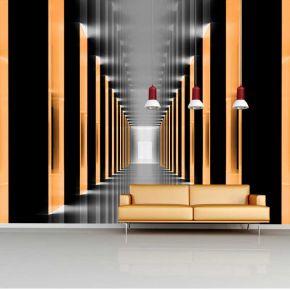 Fototapeta pomarańczowy tunel powiększająca wnętrze