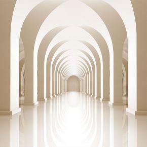 Lustrzana podłoga kolumnady