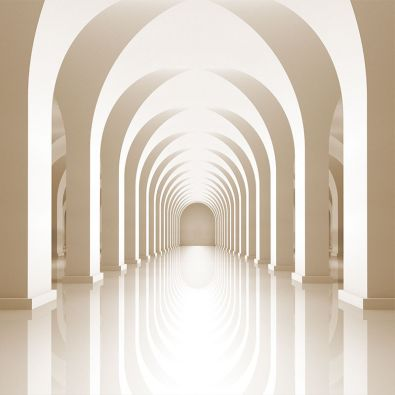 Fototapeta Lustrzana podłoga kolumnady