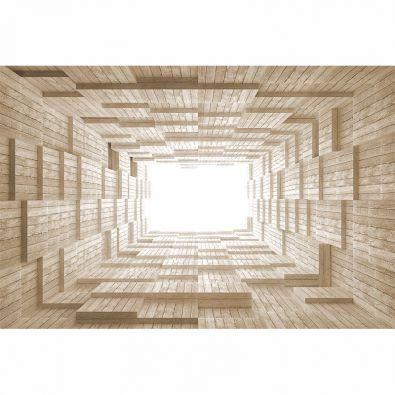 Fototapeta deski w tunelu