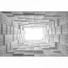 drewniany tunel