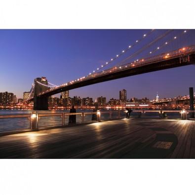 Fototapeta Brooklyn Bridge noc