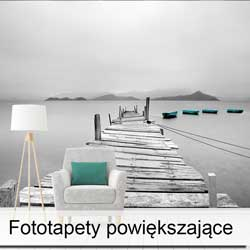 Fototapeta powiększająca wnętrze